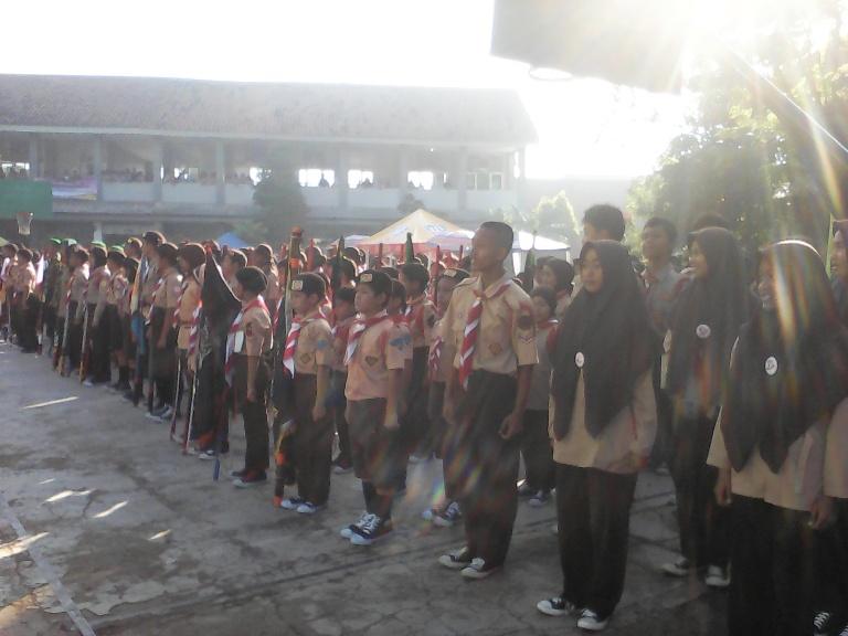 Para peserta lomba pramuka Se-Jawa Barat.